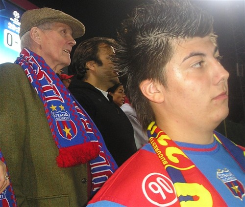 Bob at football match Steaua -